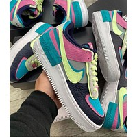Nike Air Force 1 Shadow New Color Matching Couple Low-top Sneakers Shoes