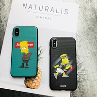 New Arival Luxury fashion Cartoon SUP Phone Case For iphone X 7 7plus 8 6S Plus Cover Leather Skin X SUP Silicone Bumper Coque