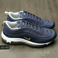 Tagre™ NIKE AIR MAX 97 Fashion Running Sneakers Sport Shoes Navy blue G-HAOXIE-ADXJ