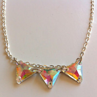 Triangle crystals necklace
