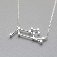 925 Sterling Silver LEO, the Lion Pendant necklace-Zodiac Sign jewelry