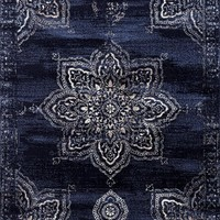 5394 Navy Distressed Oriental Area Rugs