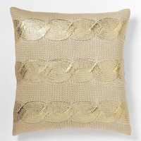 Gilded Cable Pillow Cover - Gold