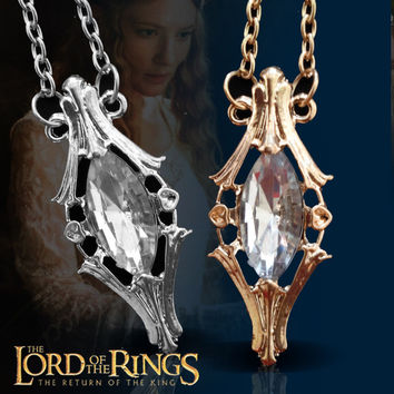 The Lord of the rings A small vial galadriel Lord of the rings tolkien jewelry free shopping