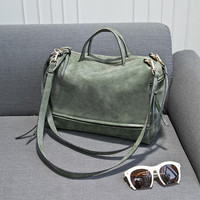 Vintage Green Crossbody Handbag Shoulder Bag