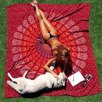 Hippie Mandala Tapestry  Bed Sheet Beach Towel