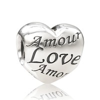 PANDORA Charm - Sterling Silver Language of Love | Bloomingdale's