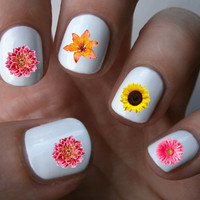 Spring Flowers Nail Art Decals Nail Stickers