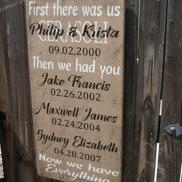 First There Was Us Wood Sign First We Had Each Other Personalized Name Sign Home Decor Wall Decor Shabby Chic Vintage Wallhanging Handmade