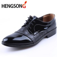 Mens Dress Pointed Toe Business Wedding Formal Derby Flats Shoes
