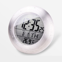 Waterproof Bathroom Digital Clock with Thermometer