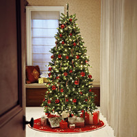 Pre-Lit Slim Fraser Hinged Tree with Color-Changing Technology