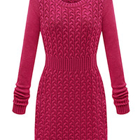 Solid Color Bodycon Sweater Dress