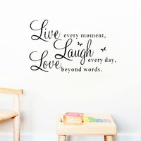 live laugh love quotes wall decals home decorations de removable wall stickers