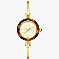 Tory Burch Gigi Bangle Watch, Multi-color/gold-tone, 27 Mm