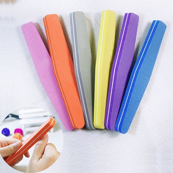 Professional Nail Files Nail Buffer Buffing Slim Crescent Grit Nail makeup Tools  diamond spong Nail File