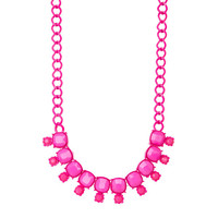 Neon Pink Dangle Necklace