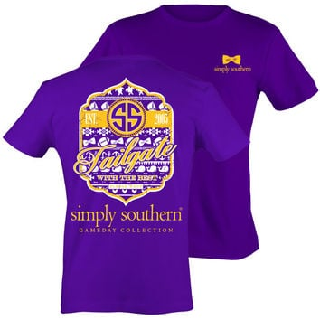 Simply Southern Preppy Football Tailgates With The Best RSVP Purple T-Shirt