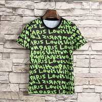 Green LOUIS VUITTON T Shirt Top Blouse Summer