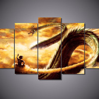 5 Piece Dragon Ball Z Painting