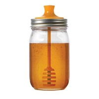 Jarware Mason Jar Re-Purposing Honey Dipper Lid - Fits Regular Mouth Jars