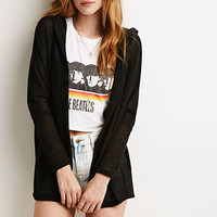 Hooded Loose-Knit Cardigan