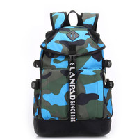 Canvas Camo Backpack Daypack Travel Bag