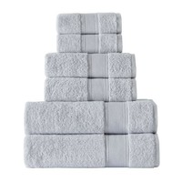 Smoke Turkish Cotton 6 Pc Bath Towel Set