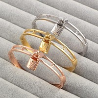Louis Vuitton LV Women Fashion Hollow Plated Bracelet