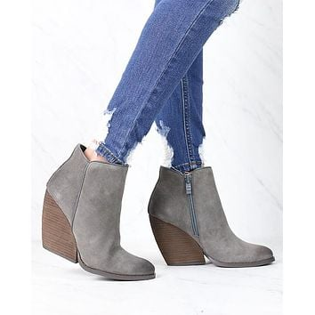 Very Volatile - Whitby Demi Wedge Suede Ankle Bootie in More Colors