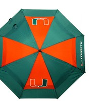 NCAA Miami Hurricanes Umbrella Golf Double Canopy