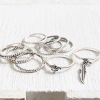 Feather Ring Set