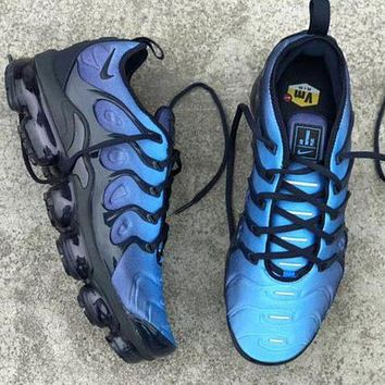 Nike Air Vapormax Plus Popular Woman Men Casual Running Sport Shoes Sneakers Blue