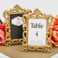 Baroque Gold Metallic 4 x 6 Picture or Table Number Frame