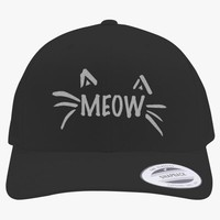 Meow Embroidered Retro Embroidered Trucker Hat