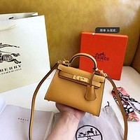 1061 Hermes Fashion Classic Handle Mini Kelly Bag Size 19-14cm-4