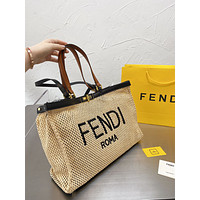 FENDI   Women Leather Shoulder Bags Satchel Tote Bag Handbag Shopping Leather Tote Crossbody Satchel Shouder Bag41*16*30cm  0415cx
