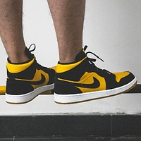 Nike Air Jordan 1 Mid AJ1 New Colorblock High-Top Sneakers