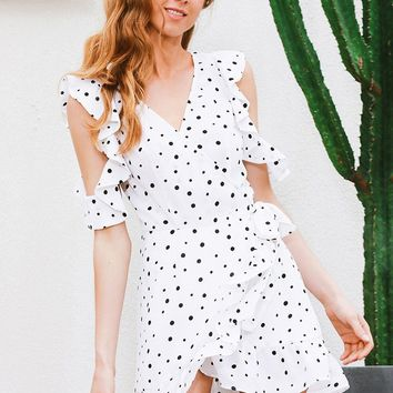 Chiffon Polkadot Dress