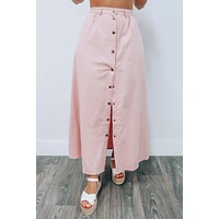 Wandering Thoughts Skirt: Dusty Pink