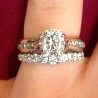 Have You Seen the Ring?: Cushion Cut Wedding Set