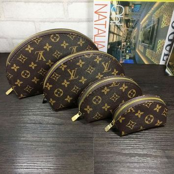 LV  Set Of 4 Cosmetic Bags - For Accessories - Travel Storage Cosmetic bag G-MYJSY-BB