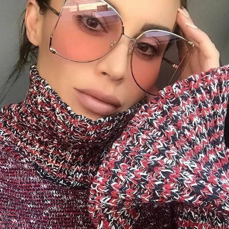 Image of Tove- Round Clear Sunglasses