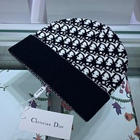 Christian Dior knitted embroidery letter knitted hat warm hat cold hat