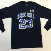 Tree Hill - Scott 23 - Long Sleeve - Navy
