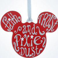 Disney Parks Mickey Icon Pixie Dust Disc Christmas Ornament New With Tags