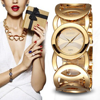 Gift Awesome New Arrival Trendy Good Price Designer's Great Deal Stylish Hollow Out Gold Watch [11668142095]