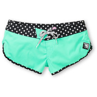 Volcom Girls Sparrow 3 Mint Board Shorts