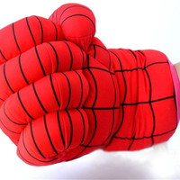 Spiderman Boxing Gloves SuperHero Children Toys Gift Party Props Tools PP Cotton (Size: One Size, Color: Red) = 1929969732