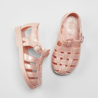 Basketweave Jelly Sandals